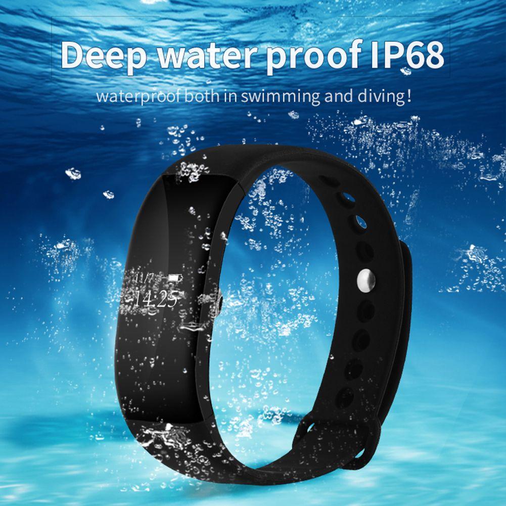 Tela Sensível Ao Toque OLED V66 Bluetooth 4.0 Banda Pulseira Inteligente para IOS / Android Bluetooth Monitoramento Esportivo Pedômetro Pulseira SmartBand