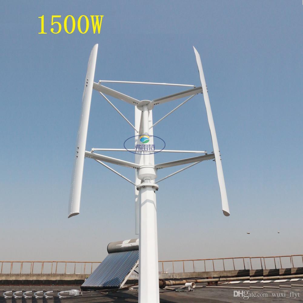 0d45984a622 Compre 1500w Gerador De Vento De 250 RPM Da Turbina Eólica 24v 48v 96v 3  Fase 50HZ 3 Lâminas Nenhuma Turbina Eólica Do Uso Home Do Ruído De  Wuxi flyt