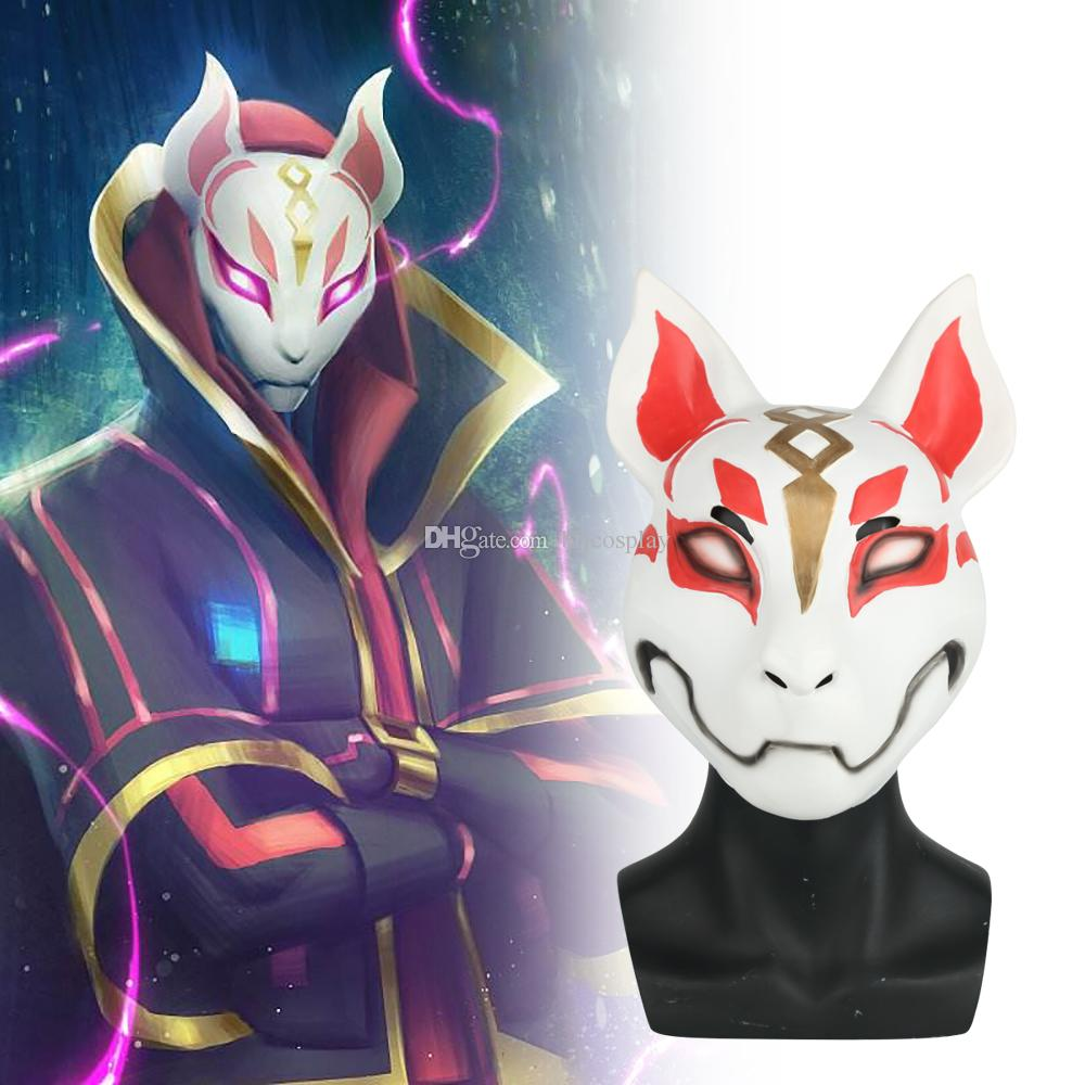 2019 Hot Game Fortnite Fox Mask Cosplay Fox Drift Mask Latex Mask