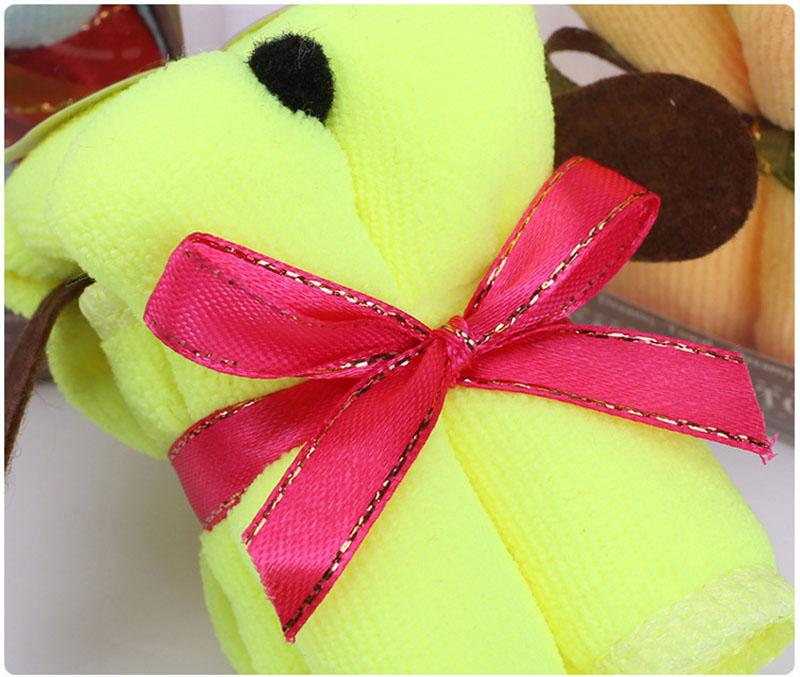 Baby shower Party favor Cartoon Dog Cake Towels kids happy birthday party gift souvenirs for girl boy