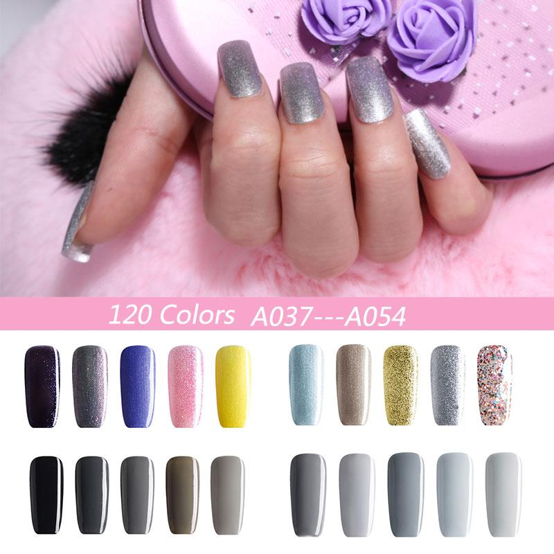 Wholesale Nail Gel Gold/Silver/Pink/Yellow/Black Color Lacquer Nail ...