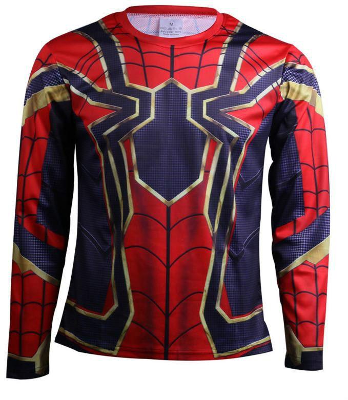 785d08526e Compre Manga Raglan Spiderman 3D Impresso Camisas De T Homens Camisas De  Compressão 2018 NOVO Crossfit Tops Para O Sexo Masculino Roupas Traje  Cosplay De ...