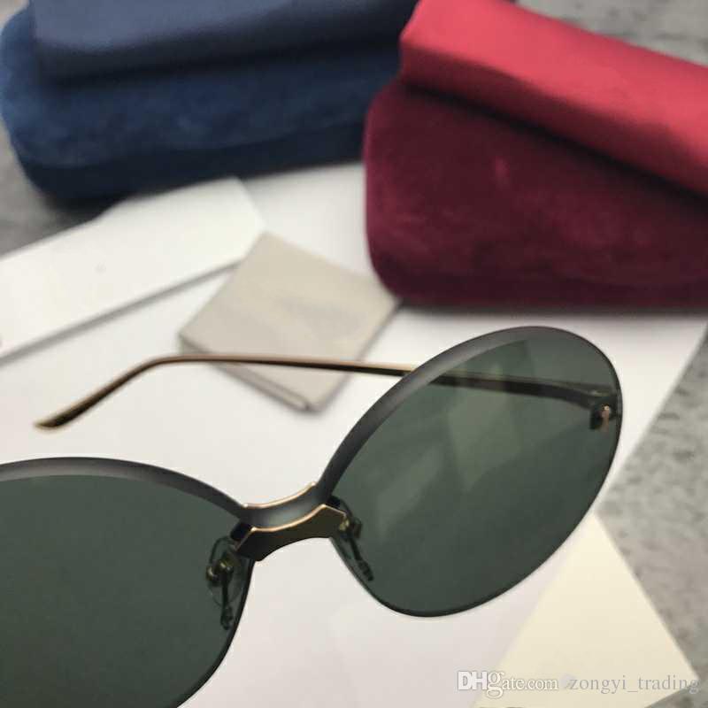 0353S Nouveau design de luxe haut Qualité mode 5.0 lentille épaisseur hommes femmes Lunettes de soleil protection UV400 avec boîte d'origine 0353
