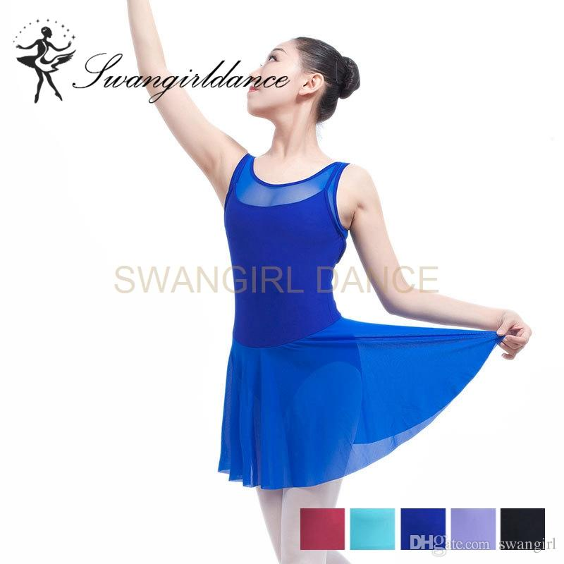 6f55e89d2819 2019 Adult Tank Black Mesh Ballet Leotard Dancing Dress Lyrical Dress  Professional Stage Ballet Clothes Dress ML6031 From Swangirl, $17.61 |  DHgate.Com