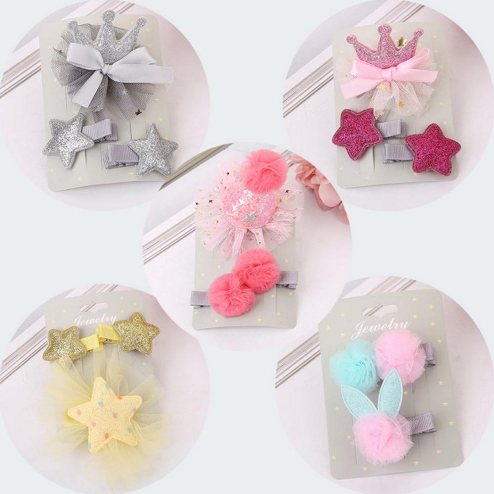 Or Kids Girls Cute Hair Clips Cartoon Crown Hairpins New Fashion ...