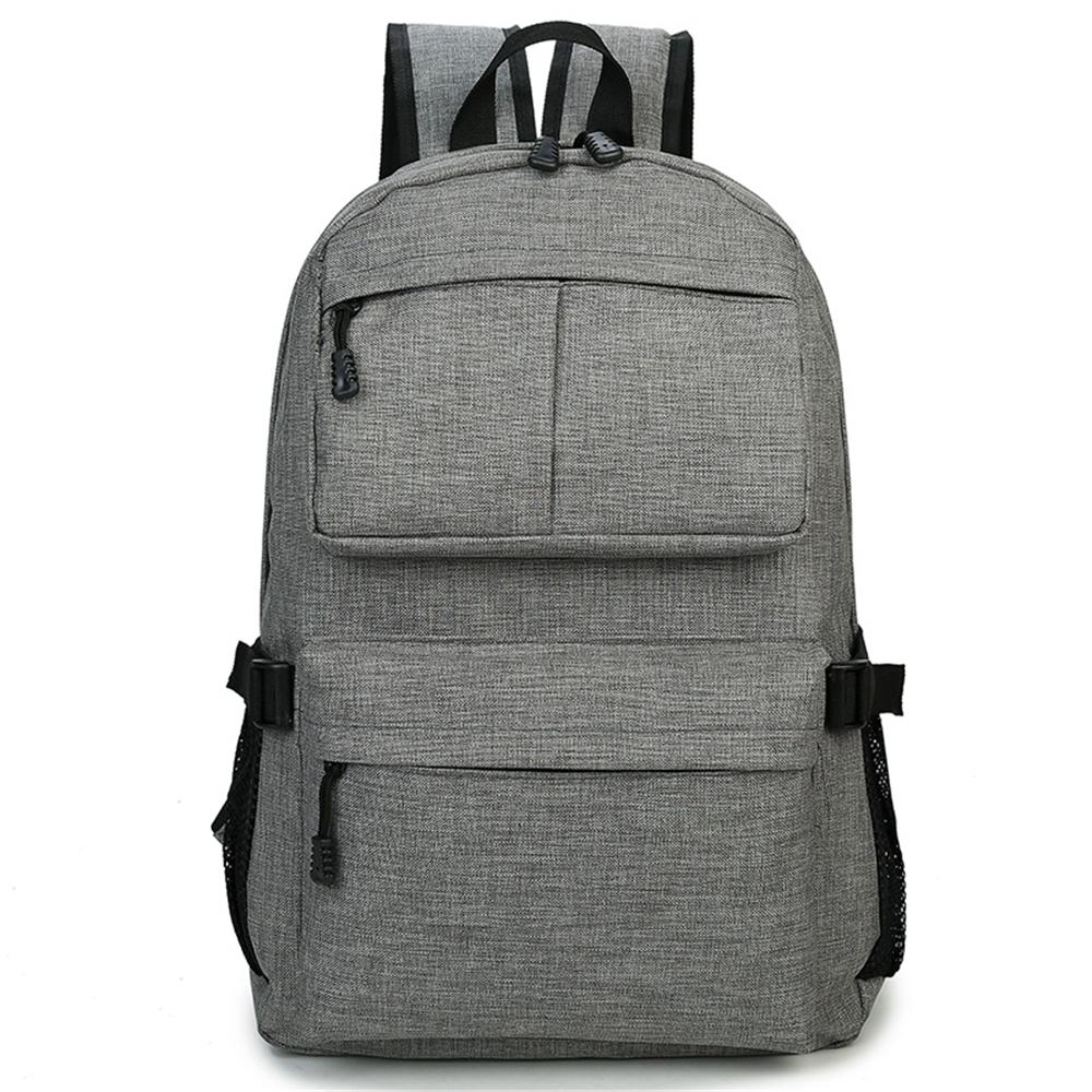 cbf0b749758c New Korean canvas shoulder bag men and women backpack solid color fashion  simple student bag two-way zipper Package