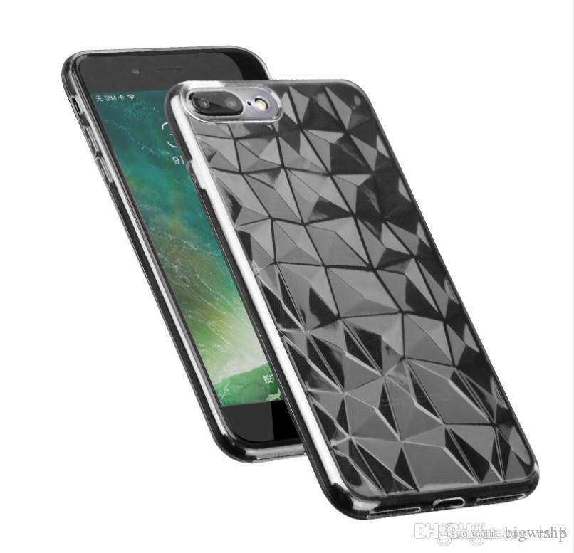 sales diamond pattern protective transparent clear phone case