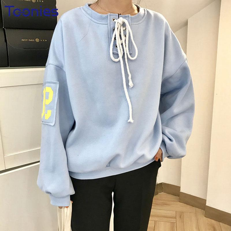 2019 New Spring Fashion Patch Designs Women Sweatshirt Drawstring Lace Up  Hoodies Sportswear Womens Printed Pullover Brand Tracksuits From Amandal 3c65ad9ff