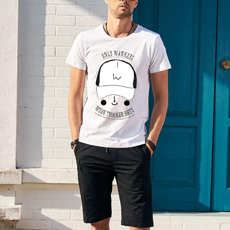 6aa4244a Trucker Caps T Shirt Printing Cartoon Novelty Men Short Sleeved O Neck  Cotton T Shirt Buy Shirts Online Print Shirts From Bergerbruno, $7.1|  DHgate.Com