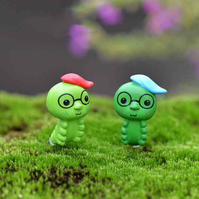 2019 Mini Caterpillar Cute Doll Ornament Micro Landscape Decoration