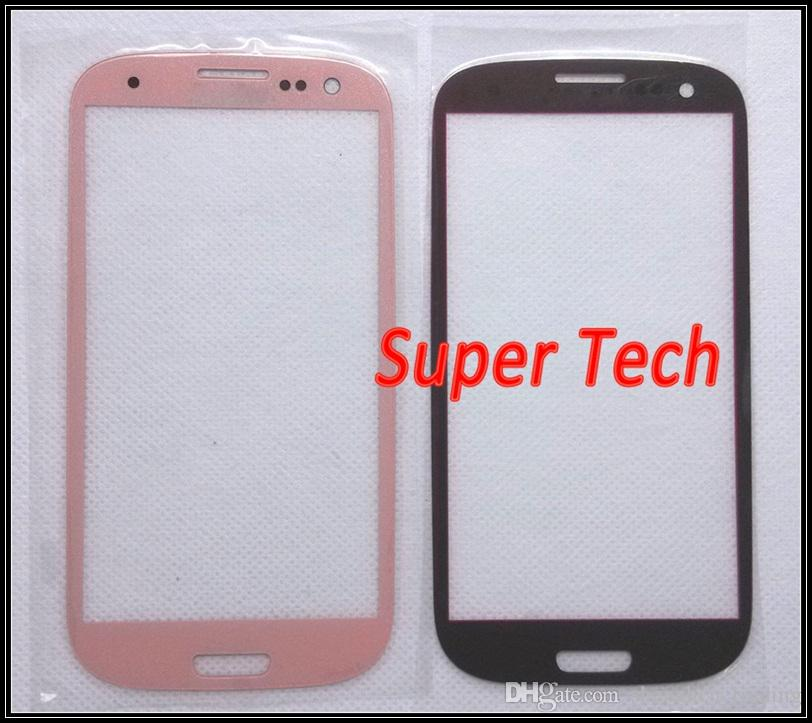 Touch Screen Outer Glass for Galaxy S3 i9300 Glass Lens Replacement for Galaxy S III Black and White DHL