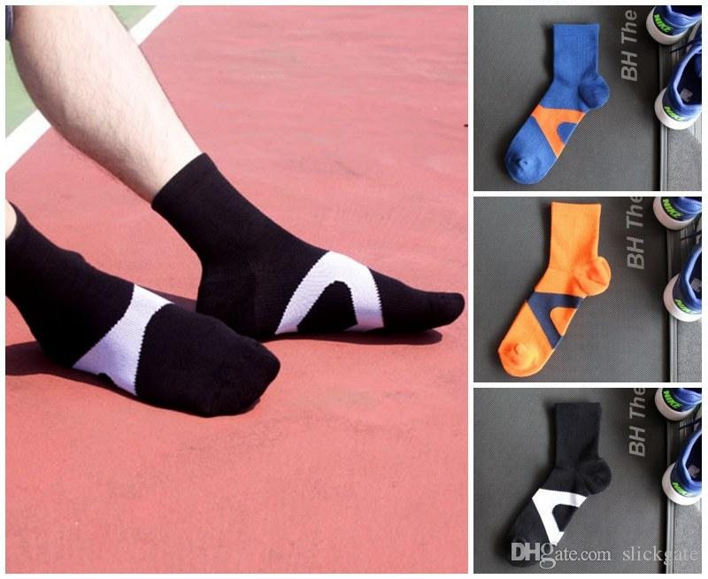 89cec2de08 2019 Blue Black Orange Sport Plantar Fasciitis Arch Support High Cut  Running Gym Compression Socks Foot Sleeves Support FBA Drop Shipping G514S  From ...