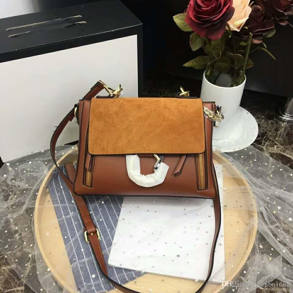 2f27bd90cae Famous Shoulder Bags Women Luxury Brand Real Leather Chain Crossbody Bag  Handbags Famous Circle Designer Purse High Quality Female Crossbag Handbag  Brands ...