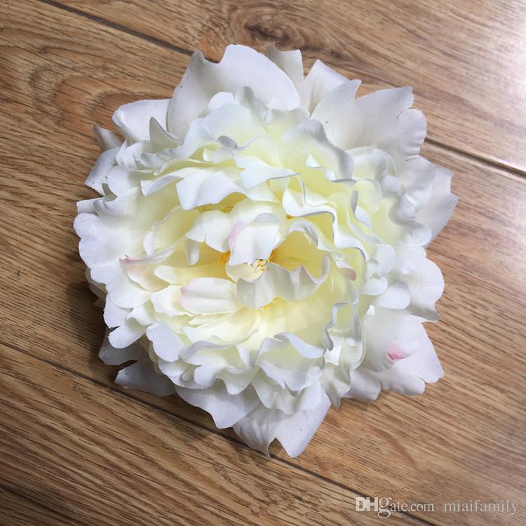 Flores artificiais Peônia De Seda Cabeças de Flor Decoração da Festa de Casamento suprimentos Simulação falso flor cabeça decorações para casa por atacado 15 cm