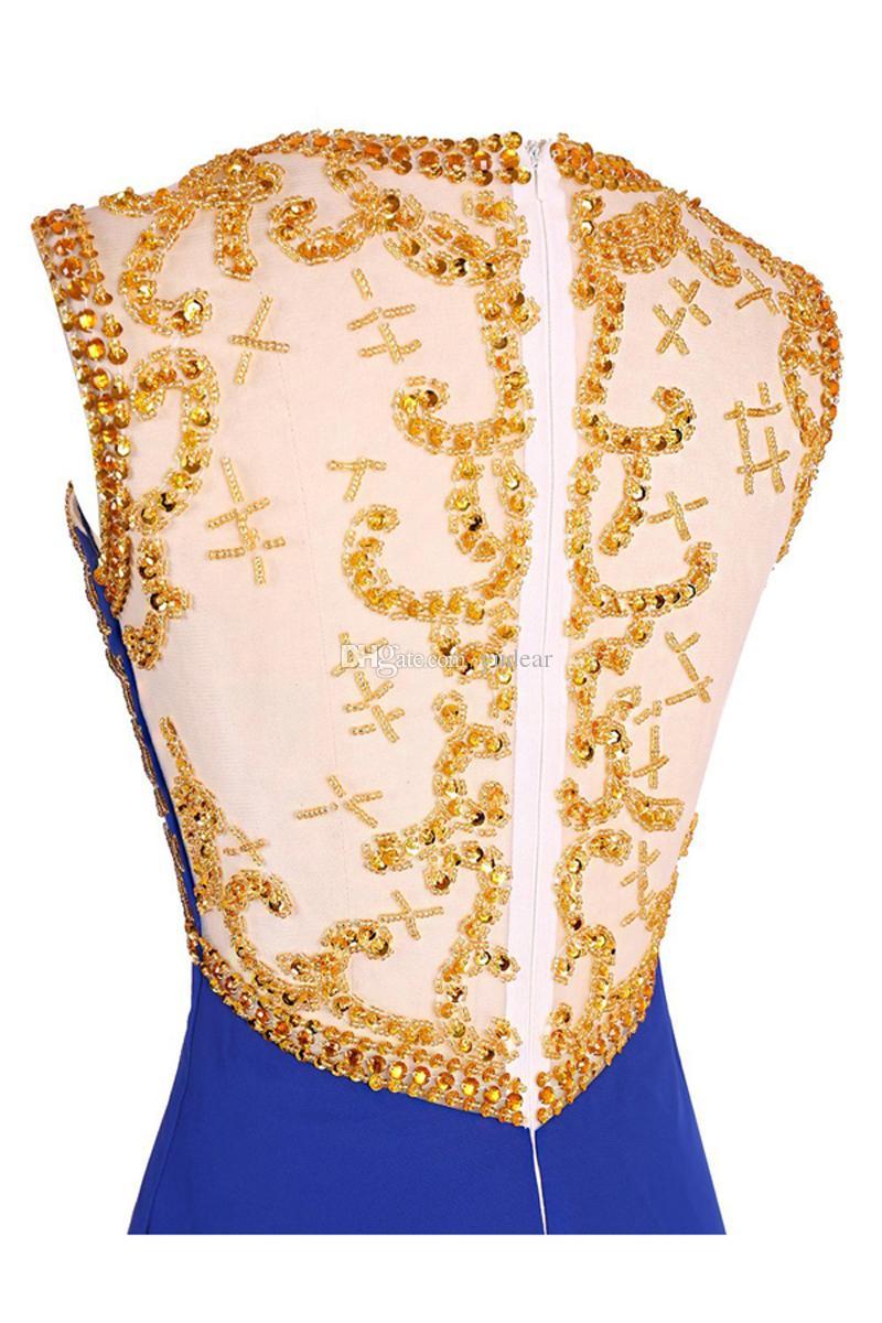 Scoop Sexy A-line Curto 2019 Mulheres Homecoming Vestidos Top Vestidos de Baile Vestidos de Formatura da Festa de Aniversário de Volta à Ilusão de Ouro Vestidos de Baile