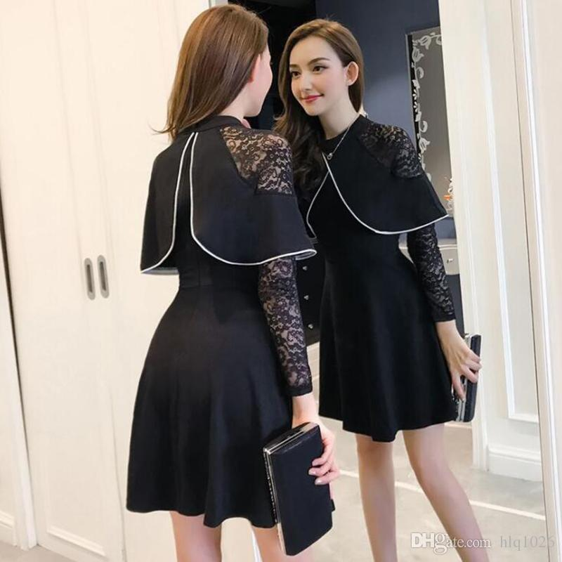 Fashion Spring Autumn Womens Casual Dress Long Sleeve Mini A Line