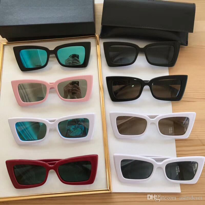 Compre 2018 Retângulo De Luxo Do Vintage Óculos De Sol Das Mulheres Designer  De Olho De Gato Senhoras Pequeno Quadro Preto Vermelho Óculos De Sol Da  Marca ... 8d16fd8574