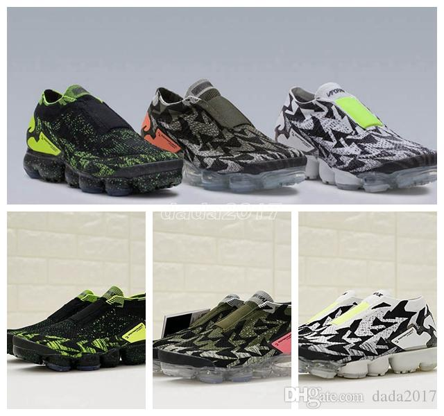 New Arrivals Mens and Womens AQ0996 Running Shoes Sneakers for Men Sports Shoes VaporMax Moc 2 White Green Hiking Walking Shoes extremely cheap price clearance really 2014 sale online KKmUISLeY