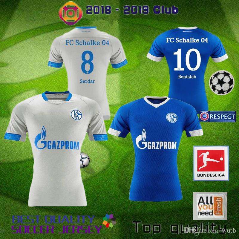 Compre Schalke 04 2018 2019 FC Camisola De Futebol 19 BURGSTALLER 7 UTH 6  Mascarell HARIT SERDAR SANE Personalizado Casa Fora 18 19 Camisa De Futebol  De ... 27a27c6552e6c
