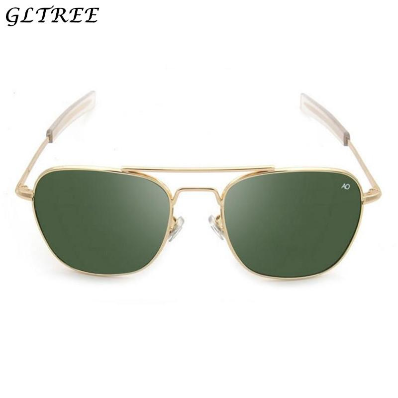 83a32f3804 GLTREE 2018 Fashion Army AO Sunglasses Men American Optical Lens Alloy Frame  New Sunglasses Men Oculos Spectacles G314 Cycling Sunglasses Running  Sunglasses ...