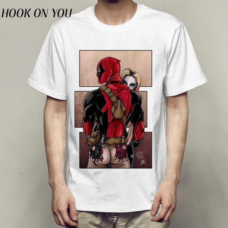 5cd18564a Deadpool T Shirt Sexy Harley Quinn Short Sleeve Gown Hot Super Hero Tees  Leisure Clothing Quality Modal Tshirt Custom T Shirts T Shirt Printing From  Peacee, ...