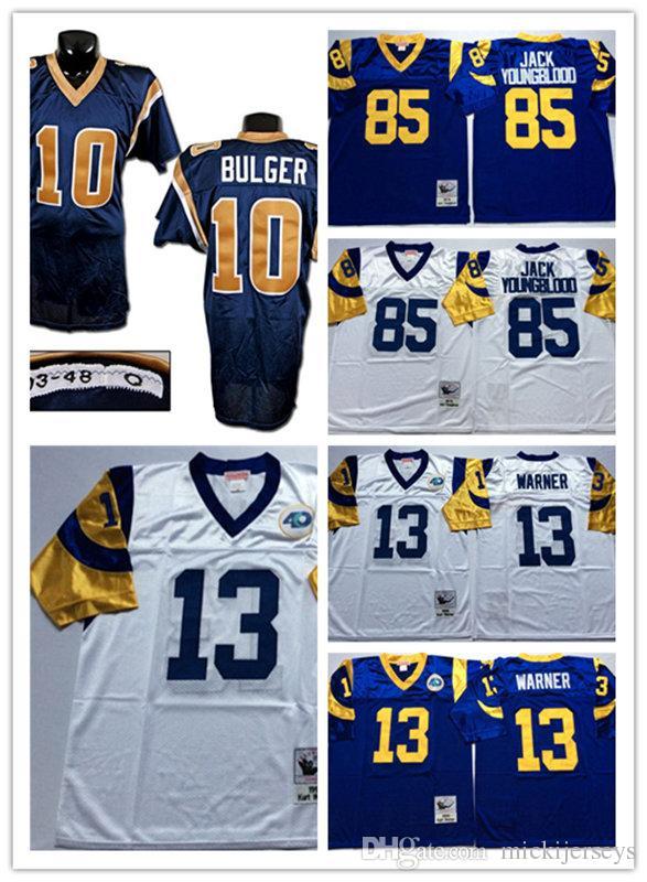 2019 Mens Navy  10 Marc Bulger Vintage Football Jersey Stitched Royal White   13 Kurt Warner  85 Jack Youngblood St. Louis Jersey M 3XL From  Mickijerseys 9d40129c5