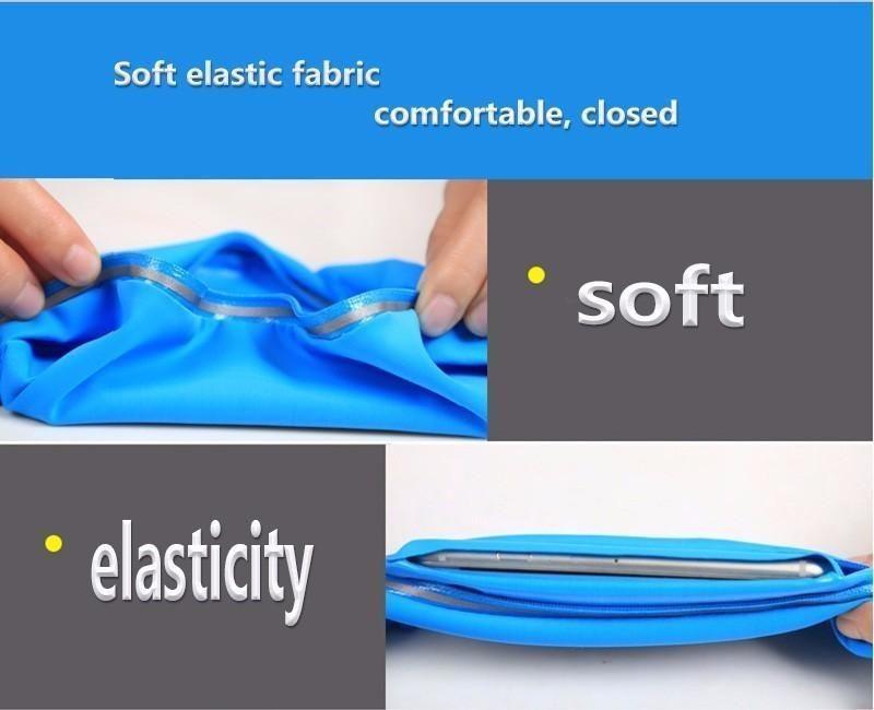 Unuversal impermeabile iphone 6 7 8 / più pollici sport cintura in vita sacchetto della cassa della cassa della copertura tasca elastica in vita iphone 8 x