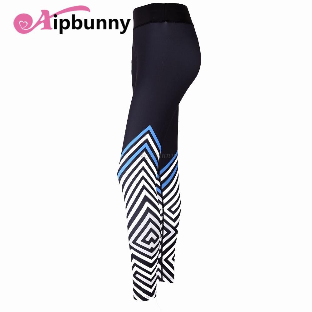 934e56ef0c27 2019 Compact Stripe Vetement Fitness Femme Women S Leggins Yoga Pants  Joggers Sport Fitness Geometry Quick Dry From Booni