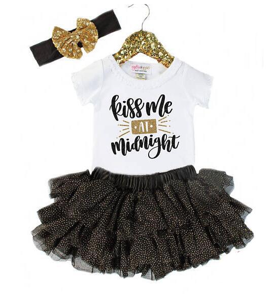 61efc8f7a9a New Baby Girl Princess Tutu Dress Boutique Girls Set T-shirt+Skirt+ ...