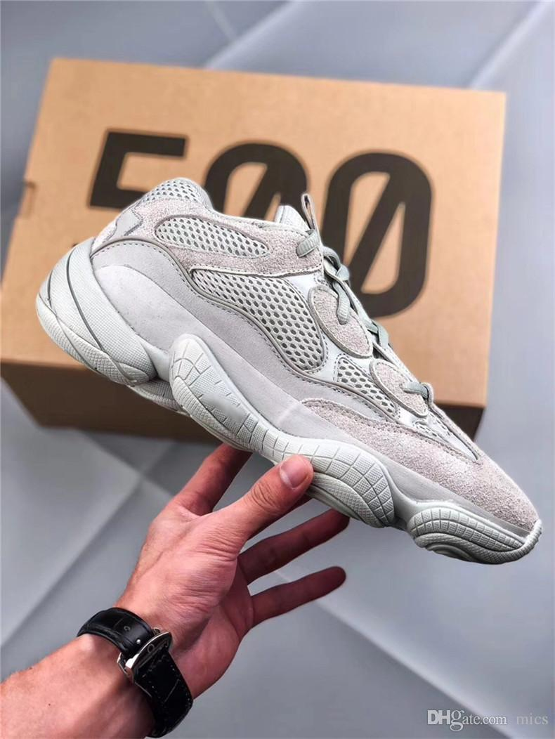 c2960687c5425 2018 Limited Release Kanye West 500 Salt Desert Grey EE7287 Running Shoes  Men Womne Authentic Quality Sports Sneakers With Original Box Salt Kanye  West ...