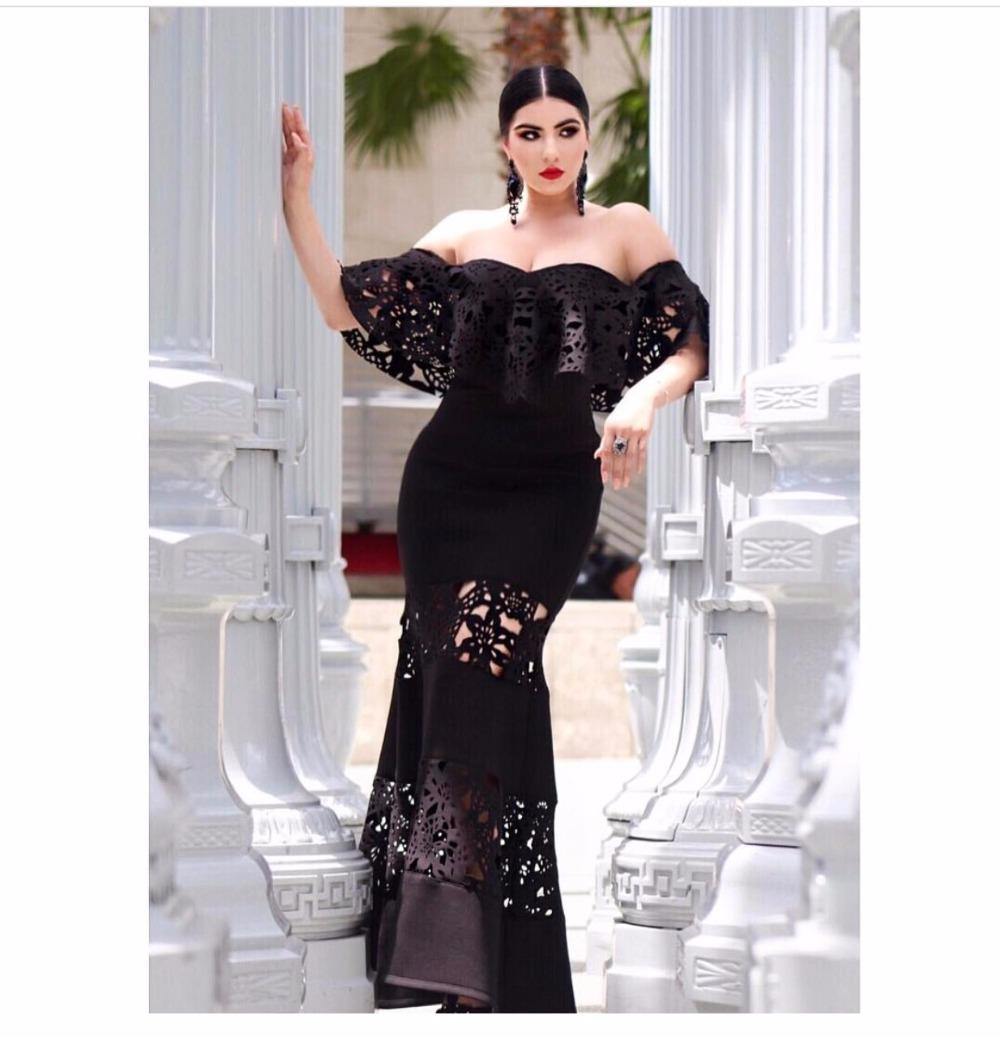 e6fc6e59829 2019 High Quality Fashion Celebrity Party Dress Black Tube Top Longtail  Fishtail Dress Lace Sexy Asian Pacific Women Up From Baimu