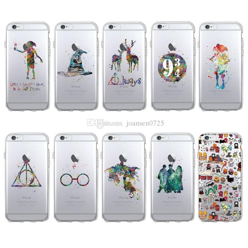 6e966d4e3f For IPhone X 8 7 6 6S Plus 5S XS Max XR Samsung Galaxy S7 Edge S8 S9 Plus  Note 8 Phone Case Soft TPU Harry Potter Painted Iphone Case Cover Cell ...