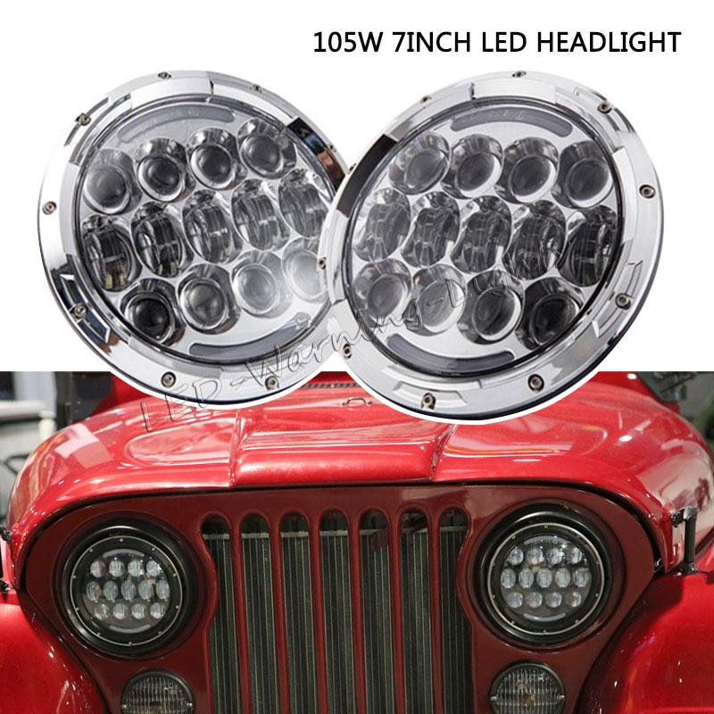 Vehicle Parts & Accessories Pair Of Grey Tractor Headlights Headlamps Outside Grille Fit