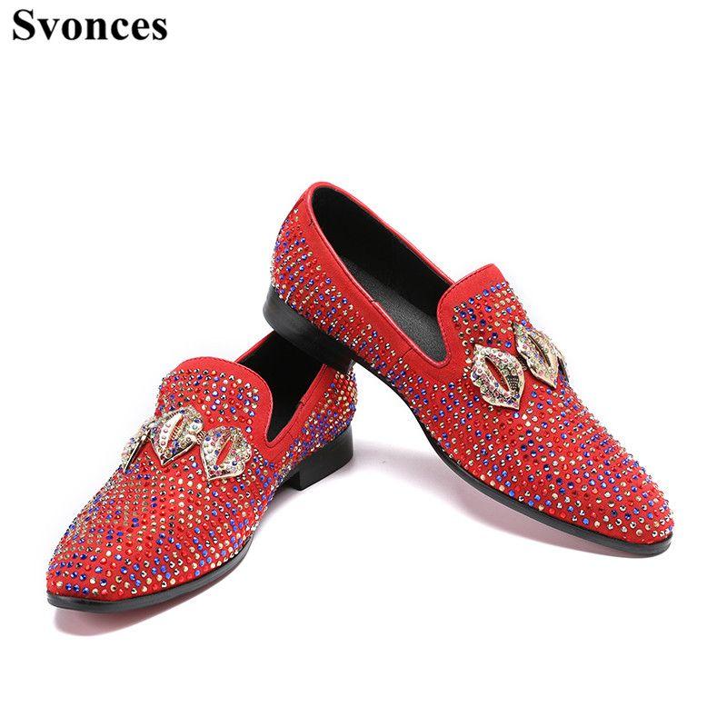 0d97ae7a33810 Acheter Svonces Italien De Mode Brillant Glitter Cristal Chaussures ...