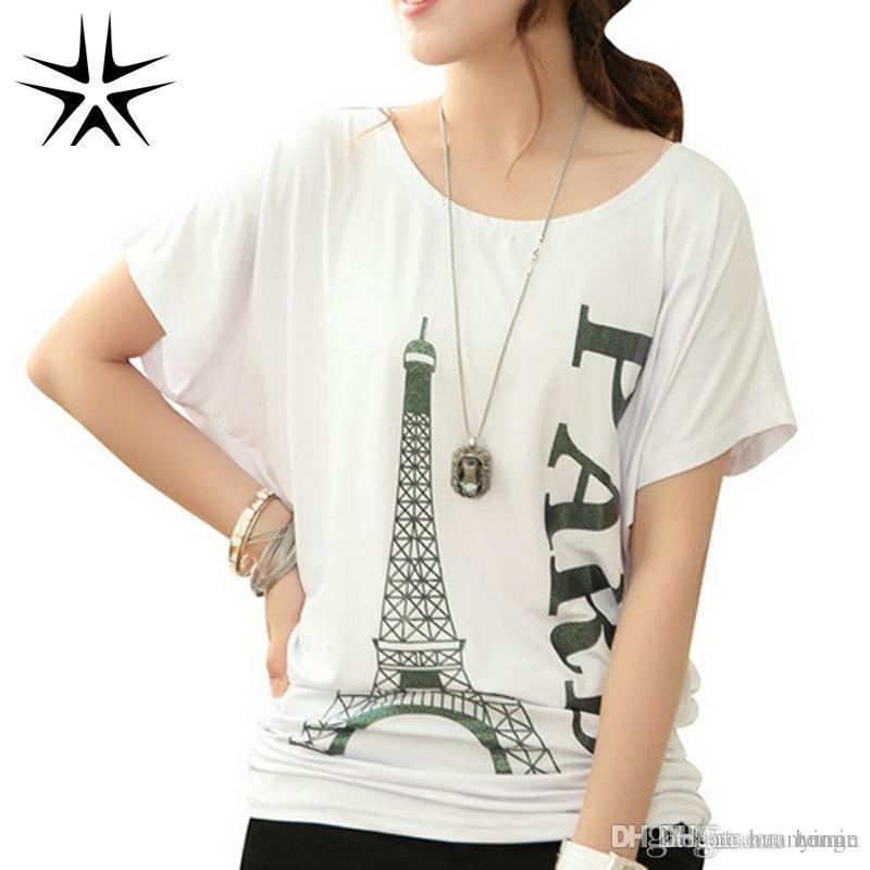 530f211702b Wholesale-Korean Style Woman Fashion T-shirts Plus Size L-4XL Good ...