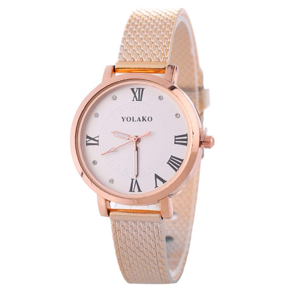 9b2627d87d00 Compre 2018 Moda Reloj Mujer Moda Cuarzo Correa De Reloj Tabla Sólida  Señora Reloj Pulsera Venta Al Por Mayor A  33.97 Del Green home