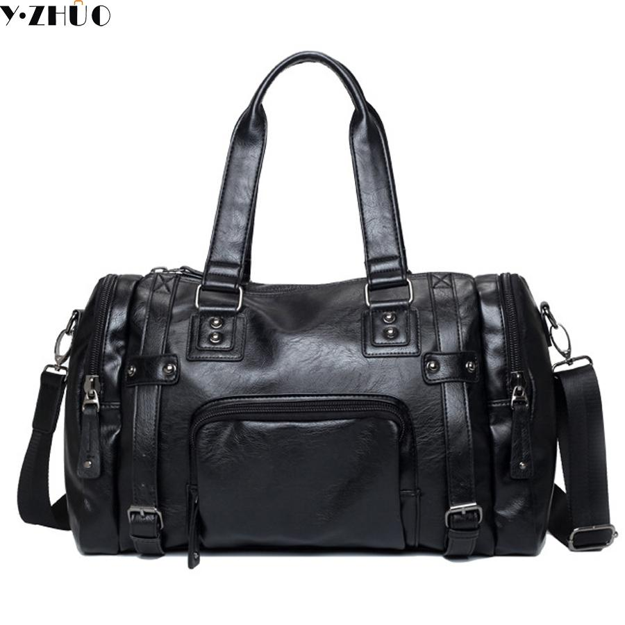 9e582403ac49 Men S Travel Bags Brand Luggage Waterproof Suitcase Duffel Bag Large  Capacity Bags Casual High Capacity Leather Handbag Travel Duffel Bags  Duffle Bags For ...