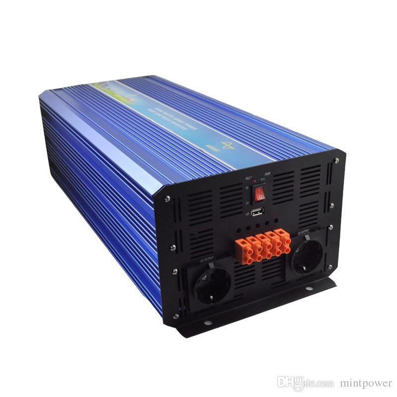 5000W с инвертора решетки, инвертора PV волны синуса 12V/24VDC 100/110/120VAC или 220/230/240VAC чисто для ветра или солнечной электрической системы