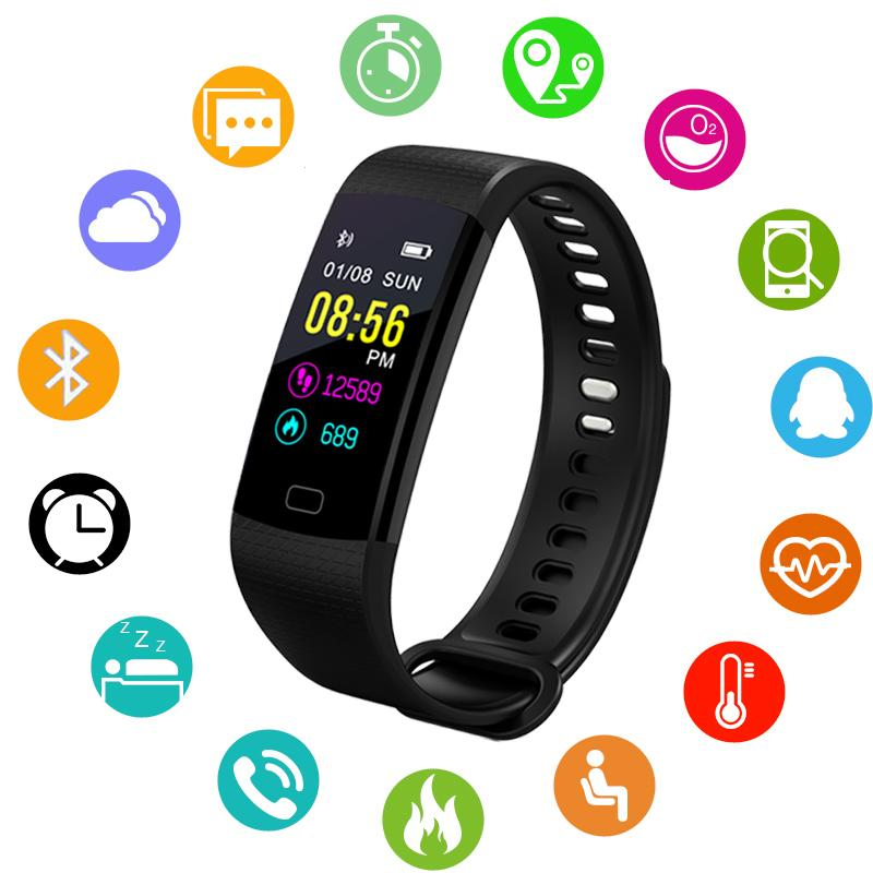 Men's Watches Men Women Smart Wristwatch Bluetooth Heart Rate Blood Pressure Pedometer Clock Led Sport Fitness Watch Fitness Activity Tracker Beautiful In Colour Watches