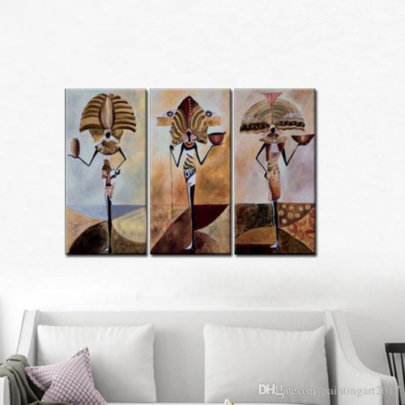 Handmade Abstract Egypt Character Oil Painting On Canvas Wall Paintings Modern Painting For Living Room Decor Decorative Pictures
