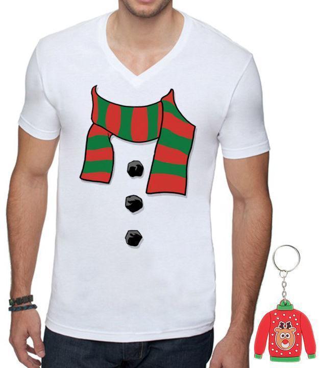e7da9c3d76a Snowman Scarf MEN V NECK Shirt Ugly Christmas T Shirt Xmas + Gift T Shirts  Shopping Online T Shirts Sites From Linnan00002