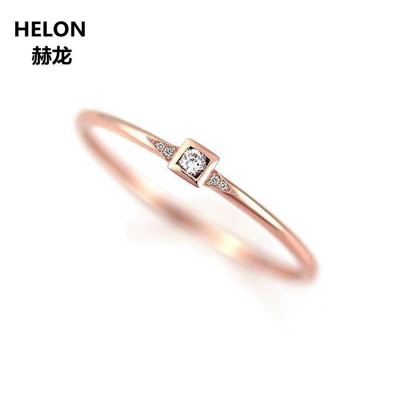 Fine Bracelets Natural White Diamond Wedding Women Bracelet Solid 14k Rose Gold Bridal Jewelry Sale Price Fine Jewelry