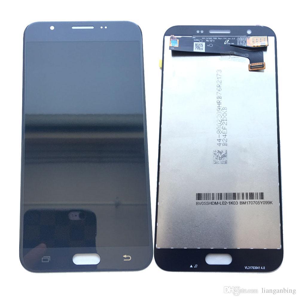 d2b0b3cfb5 Compre Super AMOLED Display LCD 100% Testd Trabalhando Assembléia Touch  Screen Para Samsung Galaxy J7 Pro 2017 J727 J727F Preto Ouro Branco DHL  Logística De ...