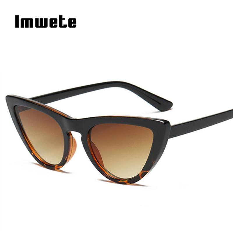 19fa6e6c3dd Imwete 2018 New Women Cat Eye Sunglasses Fashion Mirror Cat Eye Retro Sun  Glasses For Ladies Pink Blue Brown UV400 Victoria Beckham Sunglasses  Prescription ...