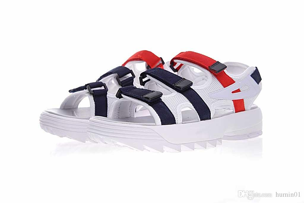 ff00747e20b6 2018 Men Disruptor2 Sandals Comfort Genuine Leather Fashion Summer ...