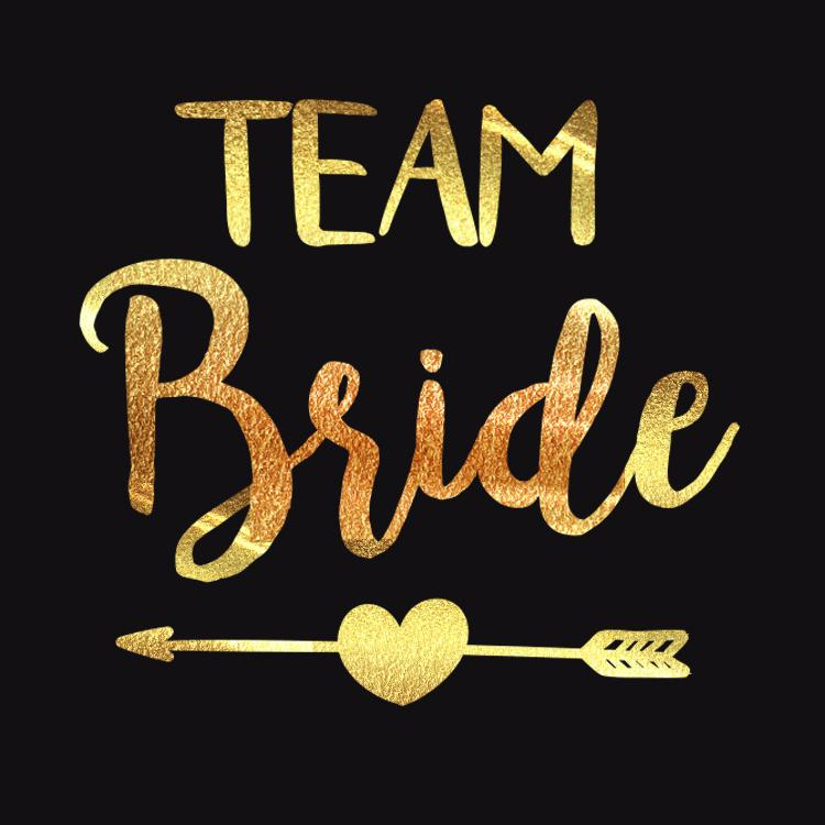 62163ff067e Bride To Be Bridesmaid Team Bride Bachelorette Tattoos Bridal Shower Gold  Stikcers Wedding Party Deco Supply Party Gifts For Guests Party Gifts For  Kids ...