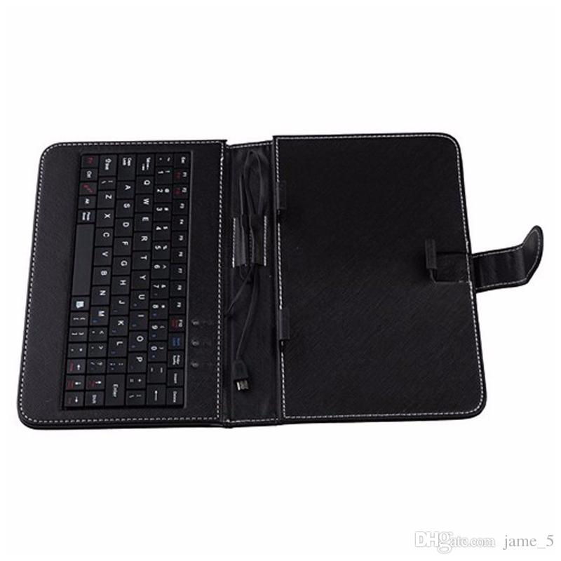 Universal for All 8 inch Tablet PC Micro USB English 8 inch keyboard case PU Leather Cover slim keyboard case wholesale