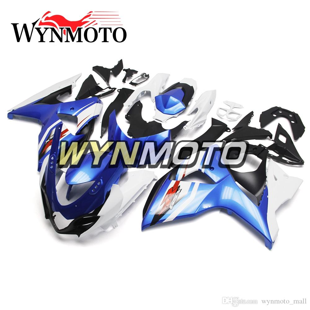 Blue White Fairing Kit For Suzuki GSXR1000 K9 Year 2009 10 11 12 13 14 15 2016 ABS Injection Cowlings High Quality Injection Bodywork Kit