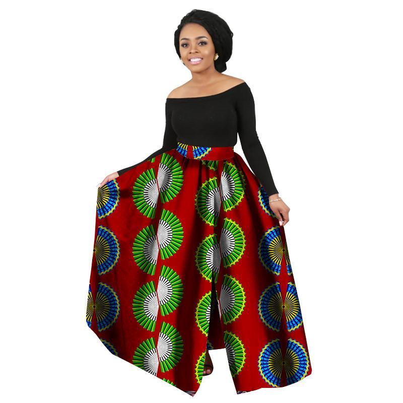 ab69ac949aa Compre 2018 Moda Feminina Impressão Africana Saia Longa Ankara Dashiki  Cintura Alta Uma Linha Maxi Longa Saia Das Senhoras Jupe Longue Femme De  Vanilla10