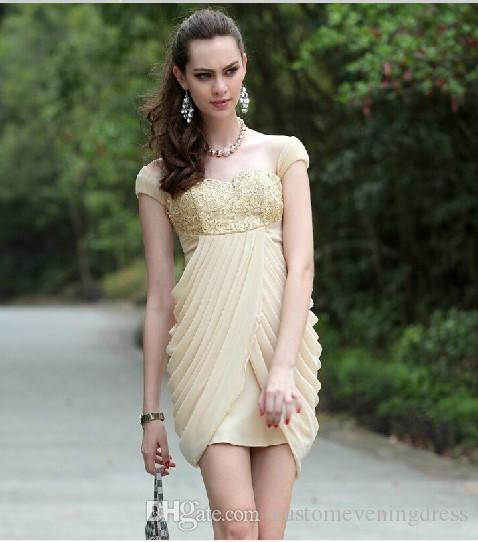 2018 beige clairvoyant outfit exquisite handmade quality fashion gauze embroidery dress Cocktail Dresses